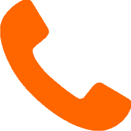 Orange handset phone icon